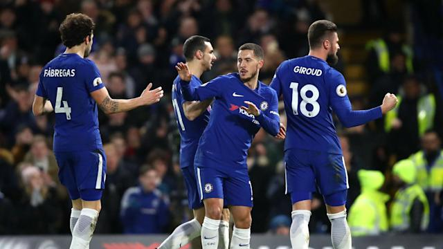 A pair of brilliant goals from Eden Hazard papered over a patchy Chelsea display and he challenged his team-mates to push for trophies.
