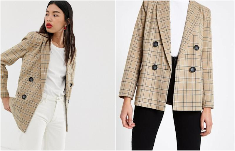 River Island blazer in check