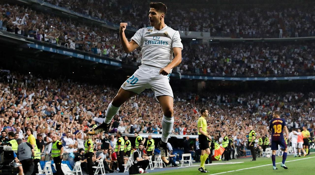 <p>Real Madrid has secured yet another trophy under Zinedine Zidane, and it's come at the expense of hated rival Barcelona.</p><p>Real Madrid padded its 3-1 first-leg win at Camp Nou with a dominant 2-0 triumph at the Bernabeu to win the Spanish Super Cup for the first time since 2012 on a 5-1 aggregate. Marco Asensio followed up his sensational goal to cap the first-leg win with a fourth-minute stunner, and Karim Benzema added a beautiful goal of his own, delivering a second straight setback to Ernesto Valverde's Neymar-less side prior to the kickoff of La Liga.</p><p>Real Madrid eased to the second-leg win and won the Super Cup for a 10th time without the suspended Cristiano Ronaldo or the rested Gareth Bale and Isco. Barcelona struggled to get a foothold in the game, with Lionel Messi and Luis Suarez each hitting the post for the visitors' best chances.</p><p>Asensio removed all doubt early on and made Barcelona's climb that much steeper by delivering a dipping dagger from long range not even five minutes in, capping Real Madrid's period of early pressure.</p><p>The goal marked the 68th straight game in all competitions in which Real Madrid has scored, with Zidane's side continuing its consistent assault, no matter the opposing side.</p><p>It took Barcelona a bit longer before it got a foothold in the match, with its first half-chance coming off a sensational volley attempt by Suarez following Javier Mascherano's chipped ball forward in the 12th minute.</p><p>Real Madrid came inches from doubling its lead on the day through Toni Kroos, who opted for a softly hit chance from the center of the box after Lucas Vazquez's lay off pass in the 30th minute.</p><p>A minute later, Vazquez set up Benzema for a close-range header, but Gerard Pique's last-gasp intervention put the ball out for a corner.</p><p>Vazquez took things into his own feet moments after that, spraying a left-footed chance off the left post after beating goalkeeper Marc-Andre ter Stegen from 15 yards.</