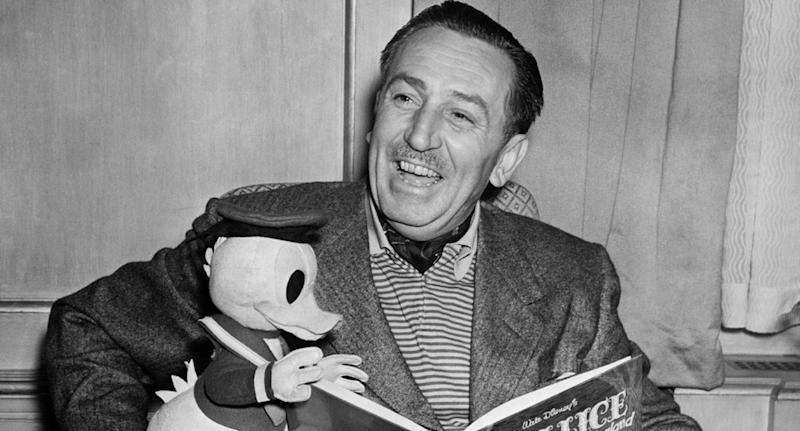 Black and white photo of the late Walt Disney who was accused of anti-Semitism, sexism and racism.