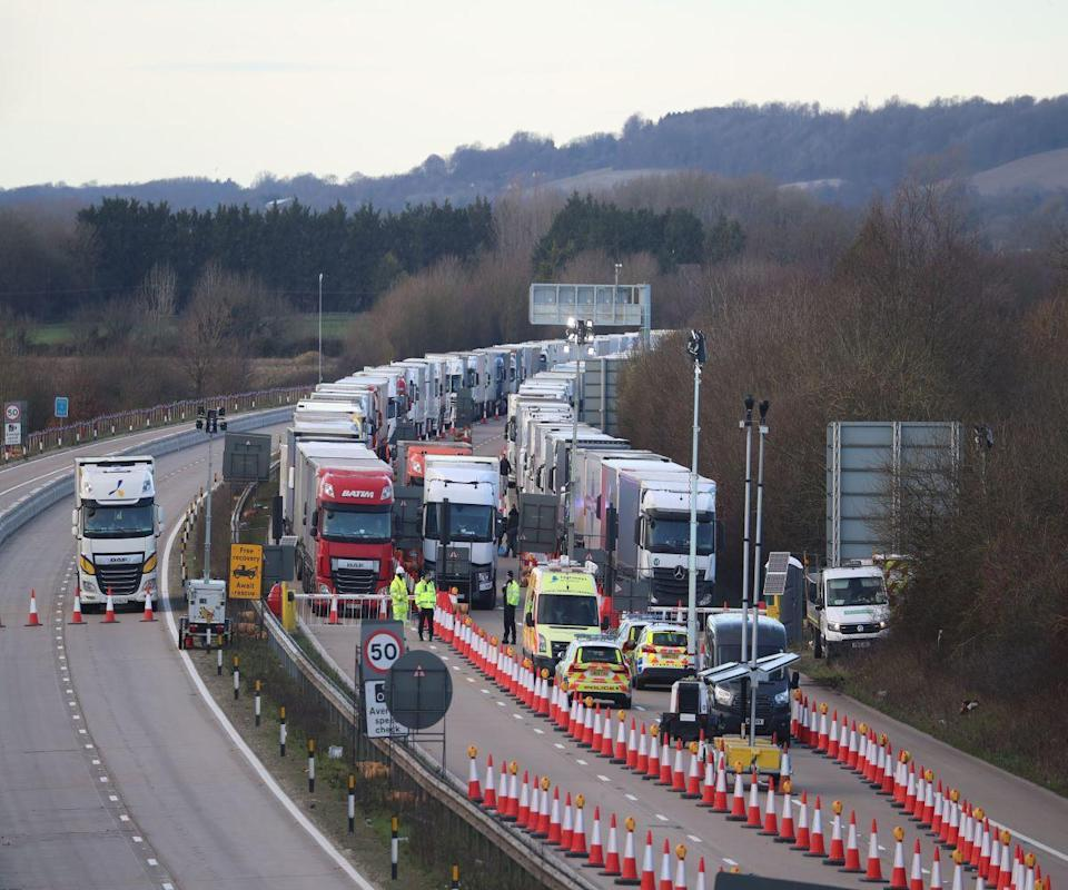 Operation Brock has been re-erected to help the flow of traffic (file photo) (PA)