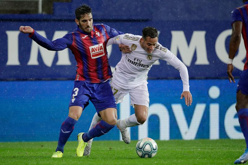 Lucas Vazquez in the match against Eibar (Photo: David S. Bustamante / Soccrates / Getty Images).