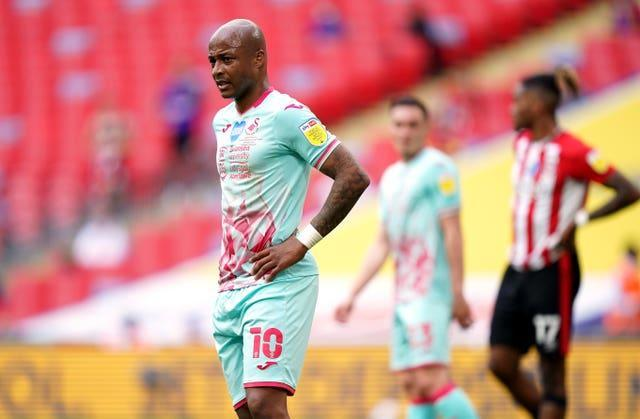 Andre Ayew was unable to get on the scoresheet