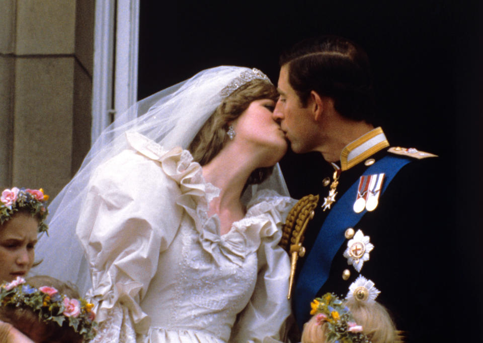 The marriage may not have lasted but Diana's wedding dress will go down in history [Photo: PA]