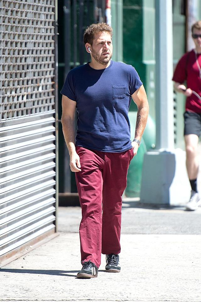 <p>The <i>Superbad</i> actor is looking buff these days! We had to do a double take as he walked the streets of New York. (Photo: TheStewartofNY/GC Images) </p>