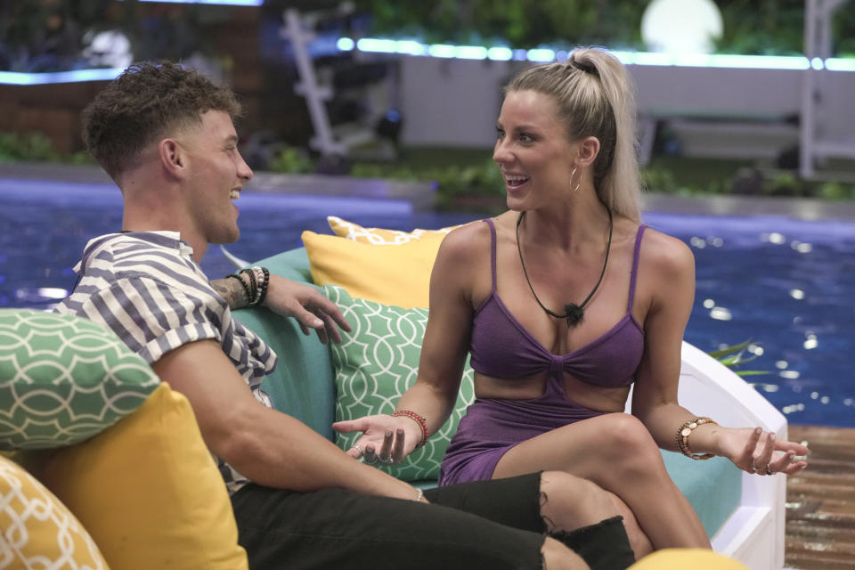 HILO - JULY 5: Love Island - Pictured (L-R): Shannon St. Clair and Josh Goldstein. Special 90-minute season premiere, Wednesday, July 7 (9:30-11:00 PM, ET/PT). New episodes air Tuesdays - Fridays (9:00-10:00 PM, ET/PT); and Sundays (9:00-11:00 PM, ET/PT) on the CBS Television Network and available to stream live and on demand on the CBS app and Paramount+. - (Photo by Sara Mally/CBS via Getty Images)