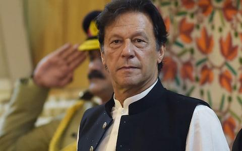 <span>Imran Khan has warned the continued suppression of Indian Muslims could lead to millions fleeing the country</span> <span>Credit: Aamir Qureshi/AFP </span>