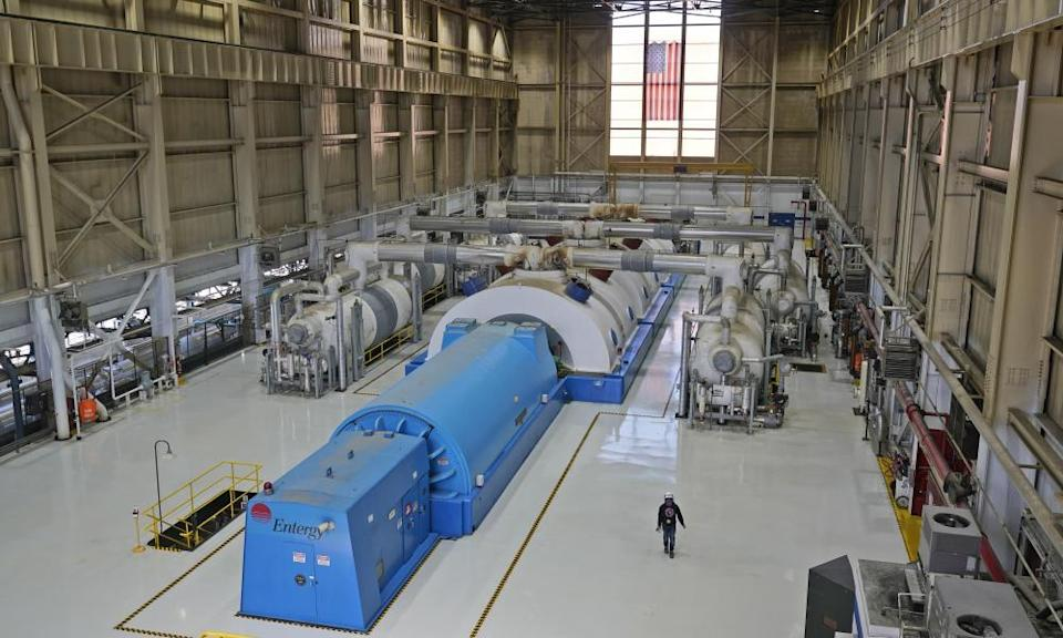The Unit 3 turbine generator used to produce power is seen at Indian Point Energy Center.