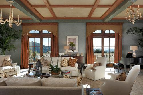 Who needs art when you have giant windows framing the picturesque landscape?  Source: Property listing by Joyce Rey and Cyd Greer for Coldwell Bankers Previews International