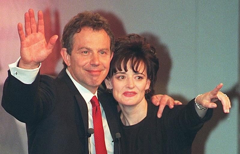 <strong>Tony Blair and his wife Cherie after Labour's landslide election victory in 1997&nbsp;</strong> (Photo: PA Archive/PA Images)