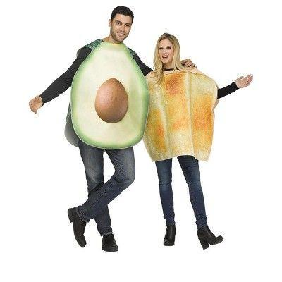 """<p><strong>Fun World</strong></p><p>target.com</p><p><strong>$39.71</strong></p><p><a href=""""https://www.target.com/p/fun-world-avocado-toast-adult-costume-pair/-/A-80677992"""" rel=""""nofollow noopener"""" target=""""_blank"""" data-ylk=""""slk:Shop Now"""" class=""""link rapid-noclick-resp"""">Shop Now</a></p><p>For the brunch loving pair!</p>"""