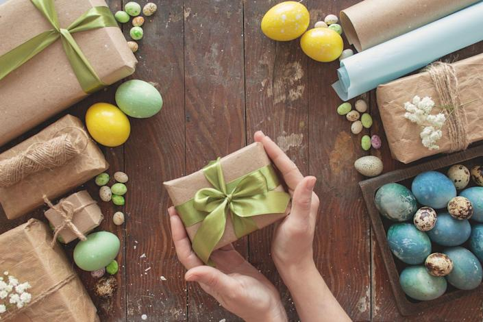 """<p>We know Easter is all about the brunch and <a href=""""https://www.delish.com/holiday-recipes/easter/a35701582/virtual-easter-egg-hunts/"""" rel=""""nofollow noopener"""" target=""""_blank"""" data-ylk=""""slk:egg hunt"""" class=""""link rapid-noclick-resp"""">egg hunt</a>, but gift-giving never hurt anyone! To show the ones you love that you care, you can choose from so many options to wrap up or throw into an Easter basket. Of course, <a href=""""https://www.delish.com/holiday-recipes/easter/g3288/easter-treats-you-need-for-your-easter-baskets/"""" rel=""""nofollow noopener"""" target=""""_blank"""" data-ylk=""""slk:candy"""" class=""""link rapid-noclick-resp"""">candy</a> and <a href=""""https://www.delish.com/holiday-recipes/easter/g3267/chocolate-easter-bunny/"""" rel=""""nofollow noopener"""" target=""""_blank"""" data-ylk=""""slk:chocolate bunnies"""" class=""""link rapid-noclick-resp"""">chocolate bunnies</a> are *always* a good idea, but if you want something a little more personal here are some ideas to get you started.</p><p>Not sure where to start with gift shopping? Try these <a href=""""https://www.delish.com/holiday-recipes/easter/g35620914/best-premade-easter-baskets/"""" rel=""""nofollow noopener"""" target=""""_blank"""" data-ylk=""""slk:premade Easter baskets"""" class=""""link rapid-noclick-resp"""">premade Easter baskets</a>.</p>"""