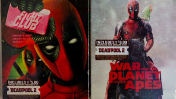 "<p>Deadpool is taking over your favorite movies.</p> <p>In true Deadpool fashion, the masked mercenary has hijacked the BluRay covers of some famous movies. In a marketing move to promote the upcoming <em>Deadpool 2</em>, which releases May 18, Walmart this week has slipped joke covers over classic films to show the chimichanga-loving anti-hero in some brand new roles.</p> <p>Catch him on the front of <em>My Cousin Vinny</em> or holding up the infamous soap on the cover of <em>Fight Club</em>. </p> <div><div><blockquote> <p>Have you seen these new <a href=""https://twitter.com/hashtag/Deadpool?src=hash&ref_src=twsrc%5Etfw"" rel=""nofollow noopener"" target=""_blank"" data-ylk=""slk:#Deadpool"" class=""link rapid-noclick-resp"">#Deadpool</a> variant Blu-ray slipcovers for a bunch of different movies? I stopped at Walmart to buy Office Space and they were so awesome I bought the entire set of 16 Blu-rays! <a href=""https://twitter.com/hashtag/podernfamily?src=hash&ref_src=twsrc%5Etfw"" rel=""nofollow noopener"" target=""_blank"" data-ylk=""slk:#podernfamily"" class=""link rapid-noclick-resp"">#podernfamily</a> <a href=""https://twitter.com/hashtag/TuesdayThoughts?src=hash&ref_src=twsrc%5Etfw"" rel=""nofollow noopener"" target=""_blank"" data-ylk=""slk:#TuesdayThoughts"" class=""link rapid-noclick-resp"">#TuesdayThoughts</a> <a href=""https://twitter.com/deadpoolmovie?ref_src=twsrc%5Etfw"" rel=""nofollow noopener"" target=""_blank"" data-ylk=""slk:@deadpoolmovie"" class=""link rapid-noclick-resp"">@deadpoolmovie</a> <a href=""https://t.co/VkARhf3zx4"" rel=""nofollow noopener"" target=""_blank"" data-ylk=""slk:pic.twitter.com/VkARhf3zx4"" class=""link rapid-noclick-resp"">pic.twitter.com/VkARhf3zx4</a></p> <p>— The MoviePass Pod🎙️ (@themoviepasspod) <a href=""https://twitter.com/themoviepasspod/status/996514657077809158?ref_src=twsrc%5Etfw"" rel=""nofollow noopener"" target=""_blank"" data-ylk=""slk:May 15, 2018"" class=""link rapid-noclick-resp"">May 15, 2018</a></p> </blockquote></div></div> <div><p>SEE ALSO: <a href=""https://mashable.com/2018/05/10/deadpool-spoilers-letter/?utm_campaign=Mash-BD-Synd-Yahoo-Ent-Partial&utm_cid=Mash-BD-Synd-Yahoo-Ent-Partial"" rel=""nofollow noopener"" target=""_blank"" data-ylk=""slk:Deadpool's 'no spoilers' letter is as hilariously brutal as you'd expect"" class=""link rapid-noclick-resp"">Deadpool's 'no spoilers' letter is as hilariously brutal as you'd expect</a></p></div> <p>The Deadpool versions of some of these movies definitely sound way cooler than the originals. Who needs Wilson the volleyball when you have Deadpool the volleyball? Tyler Dur-who? Edward Scissor-what? </p> <p>Deadpool even crashed into some of his fellow Marvel films (ahem, not MCU) and is now the star of <em>Logan</em> and the recent X-Men movies.</p> <p>You're welcome, citizens. </p> <div><div><blockquote> <p>guys look at the movie rack at walmart! brett just sent me the photo. the promo for deadpool is unbelievable <a href=""https://t.co/eDSL05MLbg"" rel=""nofollow noopener"" target=""_blank"" data-ylk=""slk:pic.twitter.com/eDSL05MLbg"" class=""link rapid-noclick-resp"">pic.twitter.com/eDSL05MLbg</a></p> <p>— semi-stable centenarian 🖤🔪⭐️ (@rainbowslinky) <a href=""https://twitter.com/rainbowslinky/status/996491302945611778?ref_src=twsrc%5Etfw"" rel=""nofollow noopener"" target=""_blank"" data-ylk=""slk:May 15, 2018"" class=""link rapid-noclick-resp"">May 15, 2018</a></p> </blockquote></div></div> <p>Unfortunately, it's just the movie covers that have been altered. </p> <p>That hasn't stop fans from clamoring for entire remakes of these movies starring Deadpool. Get on it, Ryan Reynolds, chop chop. It is the era of reboots after all, why not give them the twist they deserve?</p> <div><div><blockquote> <p>0/3 today on trying to get Deadpool movies from <a href=""https://twitter.com/Walmart?ref_src=twsrc%5Etfw"" rel=""nofollow noopener"" target=""_blank"" data-ylk=""slk:@Walmart"" class=""link rapid-noclick-resp"">@Walmart</a>. Though I found out the fight club is just a cover on the original movie and not a remake with Deadpool as Tyler Durden. Please fix that <a href=""https://twitter.com/VancityReynolds?ref_src=twsrc%5Etfw"" rel=""nofollow noopener"" target=""_blank"" data-ylk=""slk:@VancityReynolds"" class=""link rapid-noclick-resp"">@VancityReynolds</a>. We need that remake.</p> <p>— Kinglink (@KinglinkReviews) <a href=""https://twitter.com/KinglinkReviews/status/996591608744132610?ref_src=twsrc%5Etfw"" rel=""nofollow noopener"" target=""_blank"" data-ylk=""slk:May 16, 2018"" class=""link rapid-noclick-resp"">May 16, 2018</a></p> </blockquote></div></div> <div><div><blockquote> <p>For those looking for the DEADPOOL photobomb BluRays at Walmart—I was there when they opened the case. They only got 2-3 of each title and then the rest were Deadpool 1 Blu Rays. <br><br>So good hunting!<a href=""https://twitter.com/hashtag/Collecting?src=hash&ref_src=twsrc%5Etfw"" rel=""nofollow noopener"" target=""_blank"" data-ylk=""slk:#Collecting"" class=""link rapid-noclick-resp"">#Collecting</a> <a href=""https://twitter.com/hashtag/Deadpool?src=hash&ref_src=twsrc%5Etfw"" rel=""nofollow noopener"" target=""_blank"" data-ylk=""slk:#Deadpool"" class=""link rapid-noclick-resp"">#Deadpool</a> <a href=""https://twitter.com/hashtag/ItsAChase?src=hash&ref_src=twsrc%5Etfw"" rel=""nofollow noopener"" target=""_blank"" data-ylk=""slk:#ItsAChase"" class=""link rapid-noclick-resp"">#ItsAChase</a> <a href=""https://t.co/iBcOkAPQCu"" rel=""nofollow noopener"" target=""_blank"" data-ylk=""slk:pic.twitter.com/iBcOkAPQCu"" class=""link rapid-noclick-resp"">pic.twitter.com/iBcOkAPQCu</a></p> <p>— Marvelicious Toys (@MarveliciousToy) <a href=""https://twitter.com/MarveliciousToy/status/996372384490971137?ref_src=twsrc%5Etfw"" rel=""nofollow noopener"" target=""_blank"" data-ylk=""slk:May 15, 2018"" class=""link rapid-noclick-resp"">May 15, 2018</a></p> </blockquote></div></div> <p>Happy hunting, Deadpool fans.</p> <p><em>Want more clever culture writing beamed directly to your inbox? Sign up </em><a href=""https://mashable.com/newsletters/?utm_campaign&utm_context=textlink&utm_medium=rss&utm_source"" rel=""nofollow noopener"" target=""_blank"" data-ylk=""slk:here"" class=""link rapid-noclick-resp""><em>here</em></a><em> for the twice-weekly Click Click Click newsletter. It's fun – we promise.</em></p> <div> <h2><a href=""https://mashable.com/2017/05/17/trailer-mix-deadpool/?utm_campaign=Mash-BD-Synd-Yahoo-Ent-Partial&utm_cid=Mash-BD-Synd-Yahoo-Ent-Partial"" rel=""nofollow noopener"" target=""_blank"" data-ylk=""slk:WATCH: 'Deadpool' as a drama wins all the Oscars"" class=""link rapid-noclick-resp"">WATCH: 'Deadpool' as a drama wins all the Oscars</a></h2> <div>  </div> </div>"