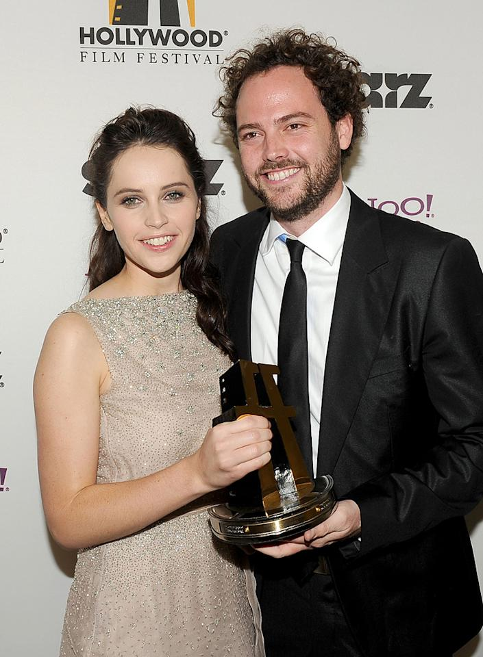 "<a href=""http://movies.yahoo.com/movie/contributor/1804503608"">Felicity Jones</a> and <a href=""http://movies.yahoo.com/movie/contributor/1809682178"">Drake Doremus</a> at the 15th Annual Hollywood Film Awards in Beverly Hills, California on October 24, 2011."