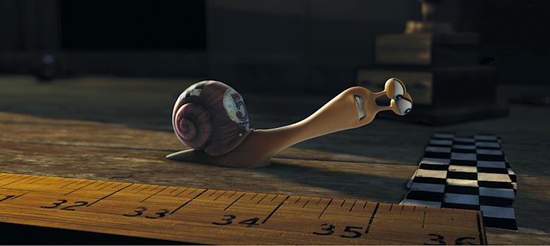 """This film publicity image released by DreamWorks Animation shows Turbo, voiced by Ryan Reynolds, in a scene from the animated movie """"Turbo."""" (AP Photo/DreamWorks Animation)"""