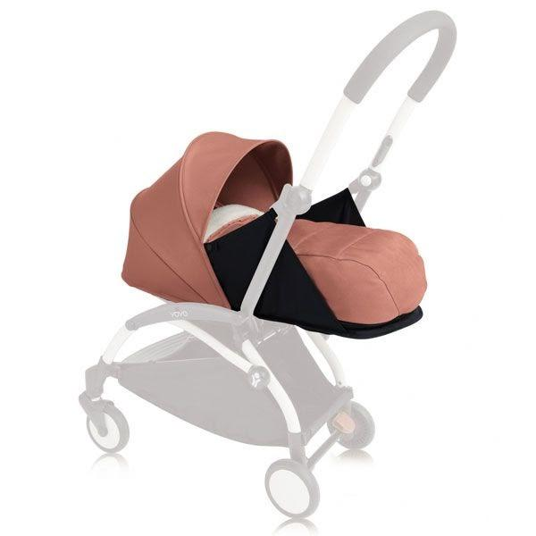 This BabyZen stroller now comes with a newborn nest pack, which allows your stroller to be used from newborn, by attaching the cozy cocoon to the chassis. Photo: BabyZen