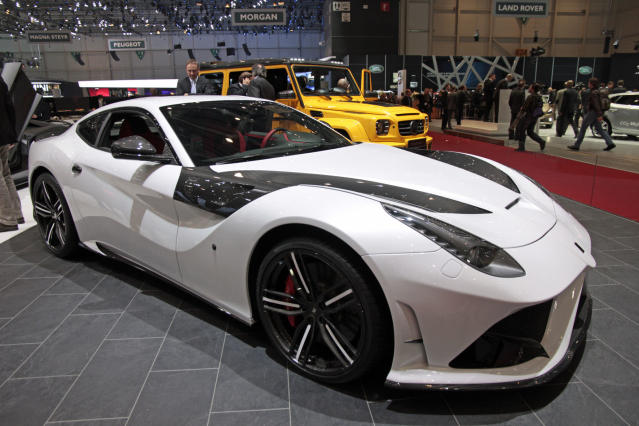 <strong>Mansory F12 Stallone:</strong>With a tuned exhaust and remapped ECU it also offers a total of 775bhp – shame about the name. (PA)