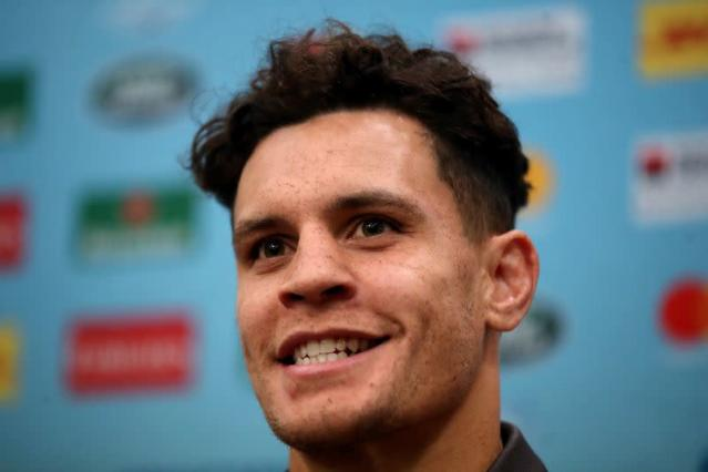 Australia's Toomua during the press conference in Sapporo