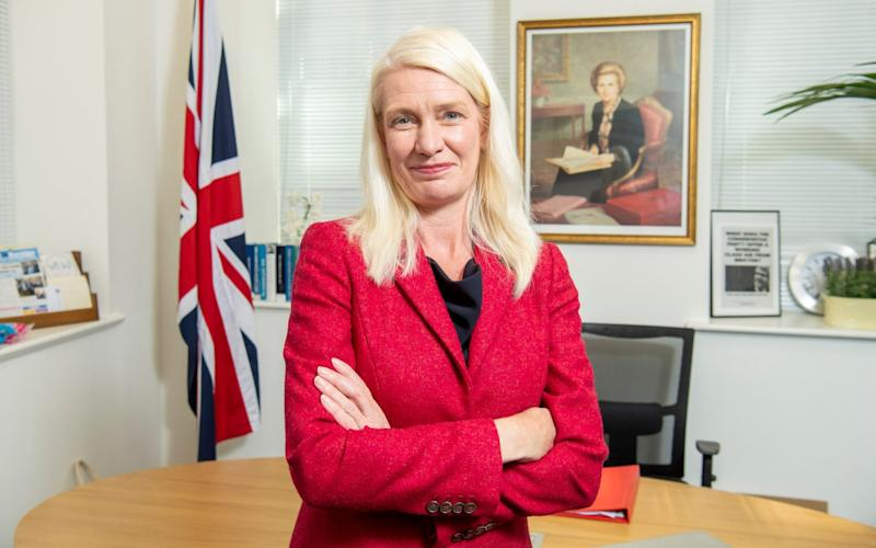 Amanda Milling in her office - Paul Grover for the Telegraph