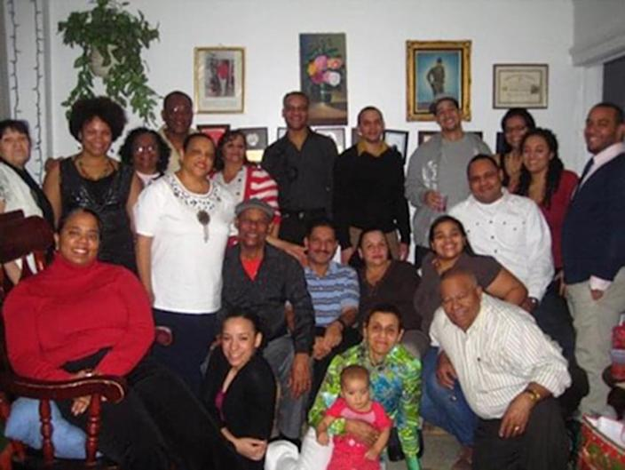 Deni Taveras with her family, several pictured here contracted COVID-19 and two died from the disease. (Courtesy Council Member Deni Taveras)