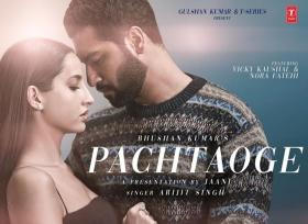 Nora Fatehi unveils the first look of 'Pachtaoge' with Vicky Kaushal