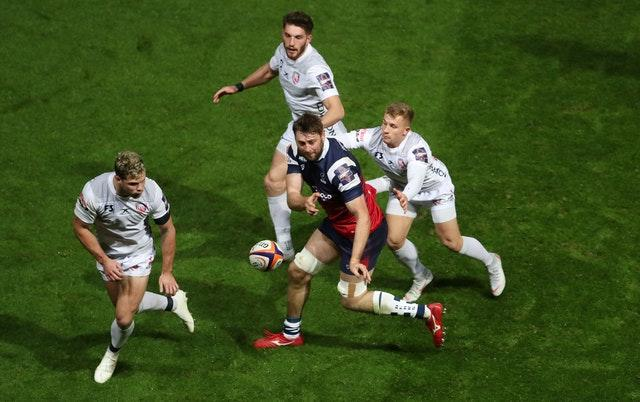 Nick Haining, pictured here being tackled while playing for Bristol, is among the new faces in the squad