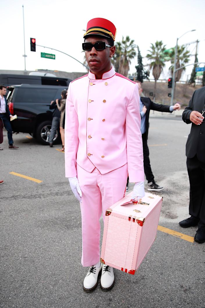 Tyler, the Creator at the Grammys.
