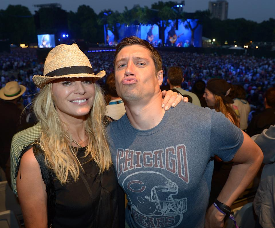 Tess Daly and Vernon Kaye attend Barclaycard presents British Summer Time at Hyde Park in London on Saturday, July 6, 2013. (Photo by Jon Furniss/Invision for Barclaycard/AP Images)