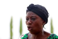Mother of a Federal College of Forestry Mechanization student who has been abducted, speaks during an exclusive interview with Reuters in Kaduna