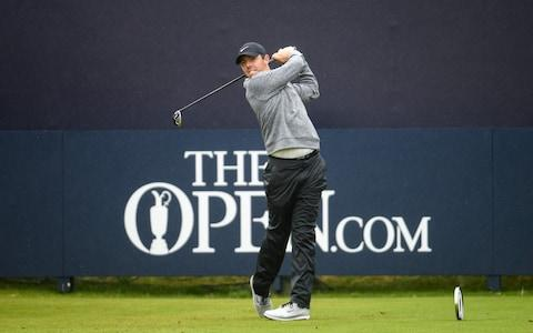 Rory McIlroy at the first tee - Credit: Sportsfile