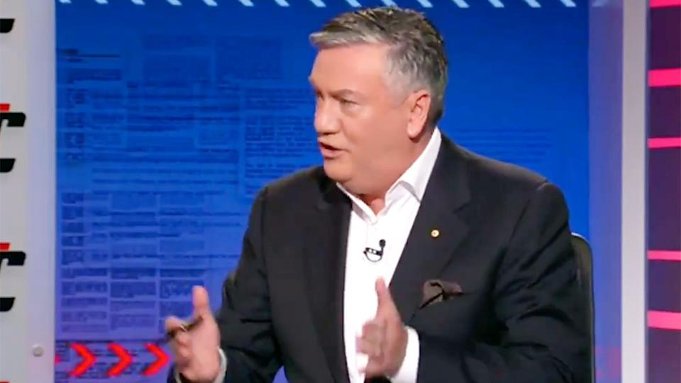Eddie McGuire is seen here discussing the drama at Collingwood on Footy Classified.