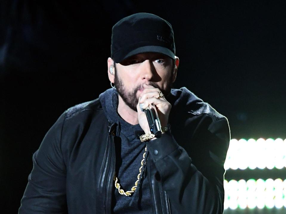 Eminem is at the centre of a  TikTok campaign to be cancelled by Generation Z usersGetty Images