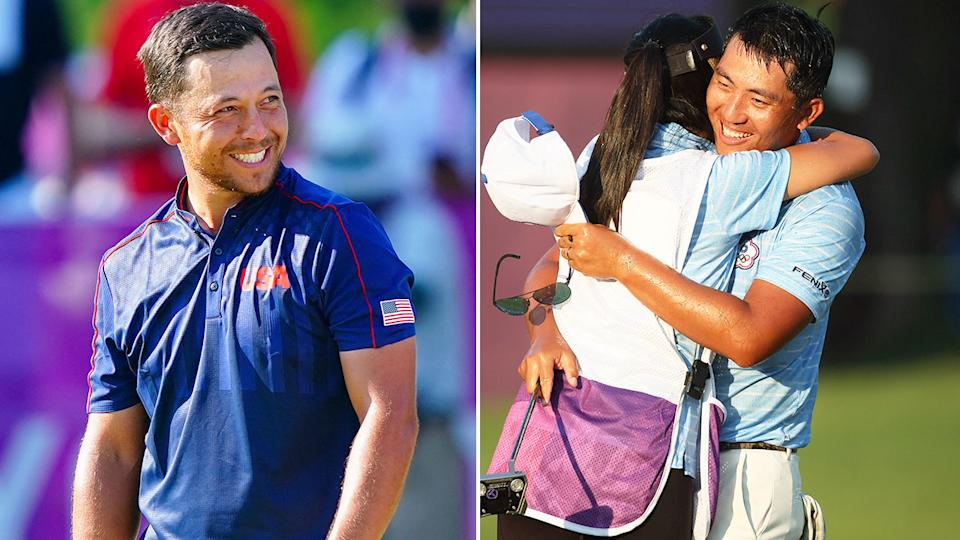 Pictured left, America's Xander Schauffele and Chinese Taipei's CT Pan on the right.