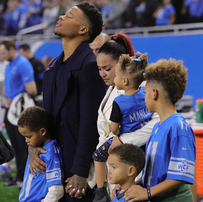 Marvin Jones, wife Jazmyn and children