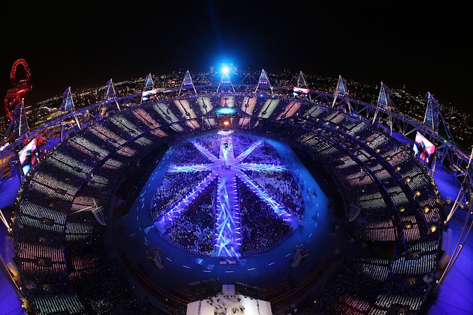 The athletes of the competing nations enter the stadium during the Closing Ceremony on Day 16 of the London 2012 Olympic Games at Olympic Stadium on August 12, 2012 in London, England. (Photo by Rob Carr/Getty Images)