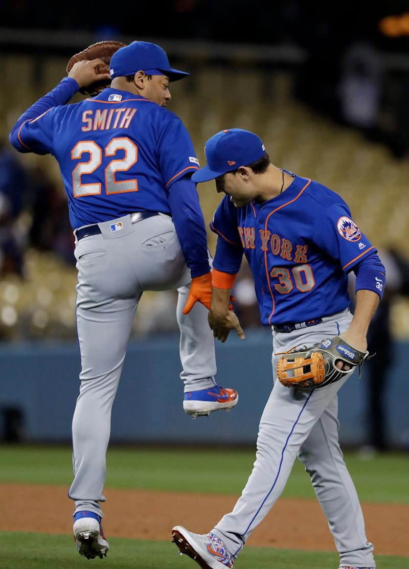 ccc7a944473 Michael Conforto s grand slam send Mets to 7-3 win over Dodgers