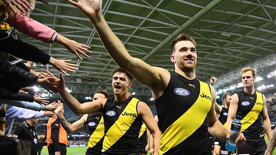 Less than 20,000 fans went to Marvel Stadium for Richmond's win over GWS last weekend. (Photo by Quinn Rooney/Getty Images)