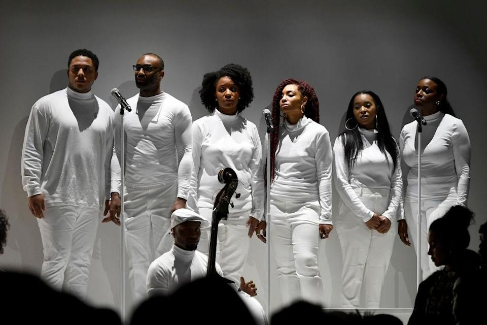 <p>Designer Kerby Jean-Raymond tapped up R&B artist and producer Raphael Saadiq to bring the backing track to his autumn/winter 2018 preview. <em>[Photo: Getty]</em> </p>