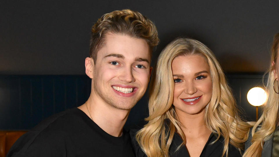 AJ Pritchard and Abbie Quinnen attend the press night performance of