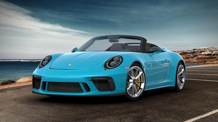 <p><em>Mike Magrath</em>: The Speedster may be the perfect 911: Stupid fast, tons of motor, and no goofy wings and things. Smother it with a jelly-bean-colored paint job (Miami Blue > all other colors), peel off all the badges, add carbon-fiber mirrors and, of course, the 23.7-gallon fuel tank, and what you're left with is all-day-driving perfection.</p>