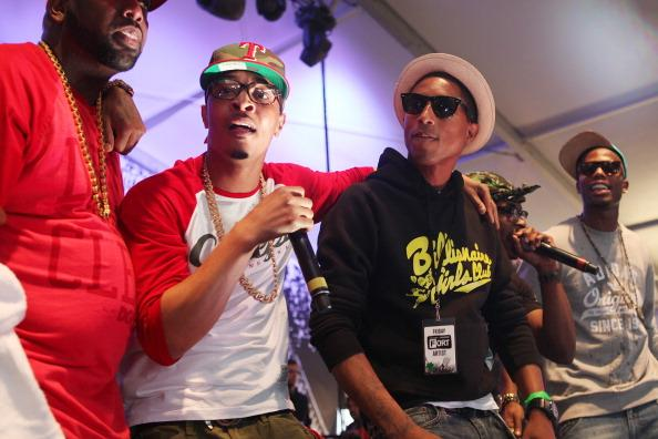 T.I., Pharrell and B.O.B. perform onstage at The Fader Fort presented by Converse  on March 15, 2013 in Austin, Texas.  (Photo by Roger Kisby/Getty Images)
