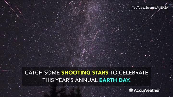 Celebrating Earth Day this weekend?  Why not lay back under the starry skies and catch the annual peak of the Lyrids. Astronomers expect 15-20 meteors per hour in the early morning of April 22.