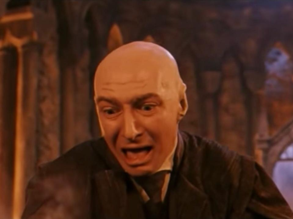 Voldemort used Professor Quirrell's body to enter Hogwarts undetected.