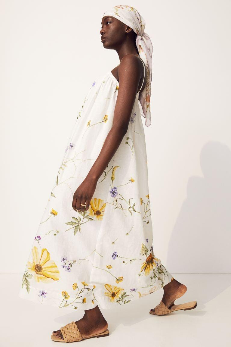 <p>Even if these breezy dresses, which range from linen to cotton and silk, aren't meant to be worn over a swimsuit, they sort of mimic the style of your classic cover-up. An unstructured, breezy fit that blows in the wind helps us make the transition out of our pajamas into the real world in 2021.</p> <p><span>H&amp;M Linen-Blend Dress</span> ($50)</p>