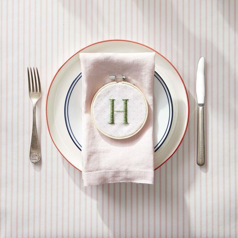 <p>This gift does double duty as a name card for your guests at the table, and it's a gift they can take home. Embroidery is a special personalized gift that will make them smile. </p>