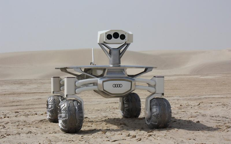 The rovers have been built by Audi and include stereo cameras to capture images in 3D - Credit: PTScientists