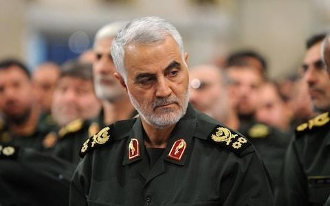 <span>Iranian Quds Force commander Qassem Soleimani attends meeting with the Islamic Revolution Guards Corps (IRGC) in Tehran</span> <span>Credit: Anadolu Agency&nbsp; </span>