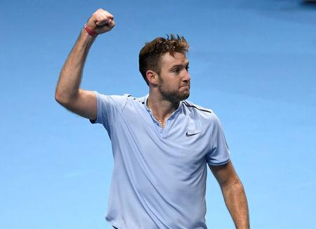 Tennis - ATP World Tour Finals - The O2 Arena, London, Britain - November 14, 2017   USA's Jack Sock celebrates winning his group stage match against Croatia's Marin Cilic   Action Images via Reuters/Tony O'Brien