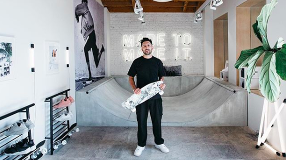 """<img alt=""""""""/><p>Desperate to hold onto your fleeting youth? Ikea's got your back with a new collection of skateboards, hoodies, and furniture with a streetwear model aesthetic.</p> <p>Dubbed SPÄNST, the <a rel=""""nofollow"""" href=""""https://www.ikea.com/gb/en/ikea/new-collections/sp%C3%A4nst-collection/"""">collection</a> is the brainchild of designers Chris Stamp and Maja Ganszyniec. SPÄNST includes a black skateboard rack, clear acrylic shoe boxes, and even a $90 skateboard.</p> <p>It's all super Instagram-friendly, of course.</p> <div> <div><blockquote><div> <div><div></div></div> <p><a rel=""""nofollow"""" href=""""https://www.instagram.com/p/BhuC0mTlN_7/"""">A post shared by Chris Stamp (@chrisstamp)</a> on Apr 18, 2018 at 10:01am PDT</p>  </div></blockquote></div>   </div> <div><div><blockquote><div> <div><div></div></div> <p><a rel=""""nofollow"""" href=""""https://www.instagram.com/p/BhrVkWcF0fj/"""">A post shared by Chris Stamp (@chrisstamp)</a> on Apr 17, 2018 at 8:48am PDT</p>  </div></blockquote></div></div> <p>SPÄNST, according to Ikea, isn't just a collection of home furnishings. It's a <em>lifestyle</em>.</p> <p>""""Fashion and furniture are different animals, but the creative process is similar,"""" Stamp, whose background is in fashion design, says in Ikea's SPÄNST announcement. """"With this collection I've learned that it's worth pushing the limits.""""</p> <p>After all, no bachelor pad (or Instagram influencer's abode) would be complete without a $35 monochromatic basketball hoop or an uncomfortably tall minimalist desk that doubles as a normal-height DJ table.</p> <div><div><blockquote><div> <div><div></div></div> <p><a rel=""""nofollow"""" href=""""https://www.instagram.com/p/BhrPOCSDy4I/"""">A post shared by Stampd (@stampd)</a> on Apr 17, 2018 at 7:52am PDT</p>  </div></blockquote></div></div> <p>Chris Stamp, who's based in LA, says, """"I grew up surfing and skating. Here in So Cal, skating is more than transportation. It's a culture.""""</p> <p>Inspired by skaters and """"modern youth culture,"""" SPÄNST als"""