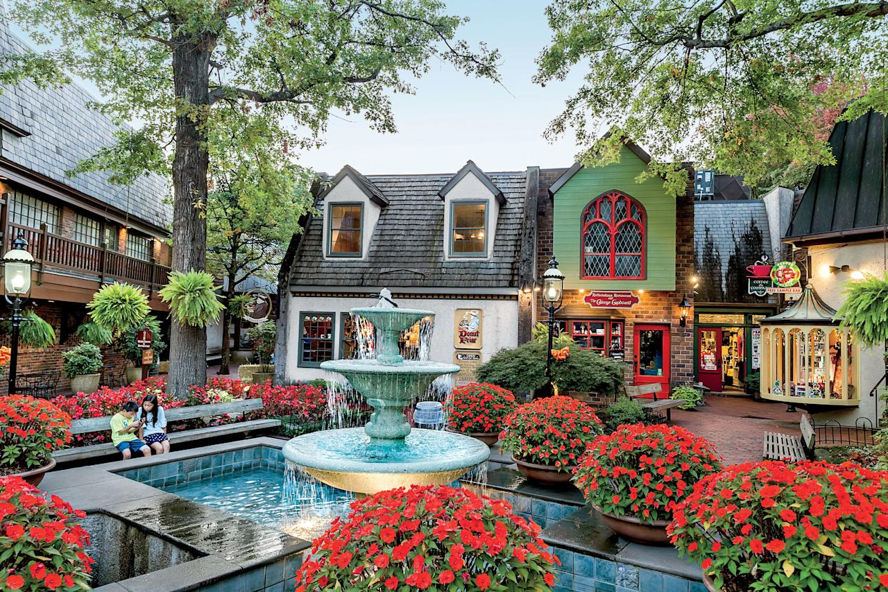 """<p>This colorful alpine village offers a diverse quilt of attractions to dive into with your best girlfriends. After making the breathtaking drive through the Smokies, no <a href=""""https://www.southernliving.com/culture/gatlinburg-tennessee-vacation"""">Gatlinburg excursion</a> is complete without hitting all of the shops, eateries, and distilleries along the Parkway. There, Ole Smoky distillery lays claim to being the first legitimate premium moonshine distiller in the United States; and you can head to Loco Burro for table-side guacamole and a breezy view with its balcony seating and a rooftop patio.</p>"""